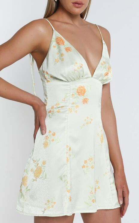 Now Im In It Dress In Yellow Floral