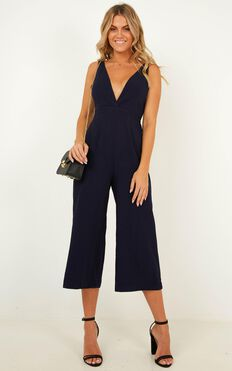 Right Beside Me Jumpsuit In Navy