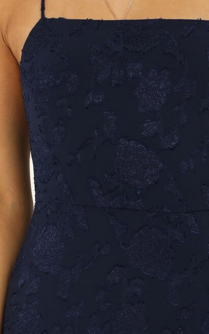 They Crisscrossed Maxi Dress in navy jacquard - 20 (XXXXL), Navy, hi-res image number null