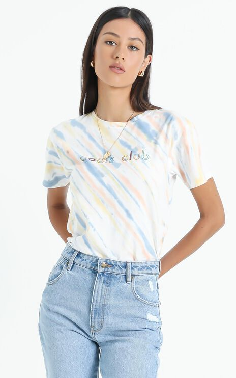 Cools Club - Sunday Tee in Faded Tie Dye