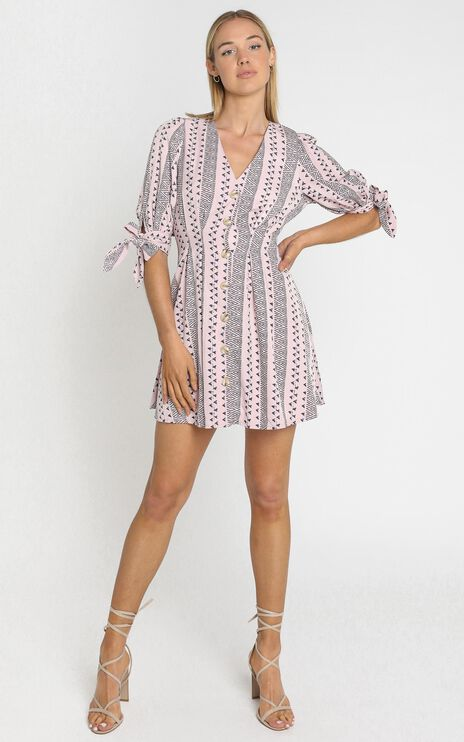 Gioia Dress in Pink Print