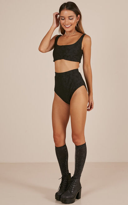 More Is More Two Piece Set in Black - 6 (XS), Black, hi-res image number null