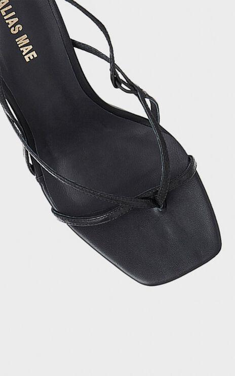 Alias Mae - Lilo Heel in Black Kid Leather