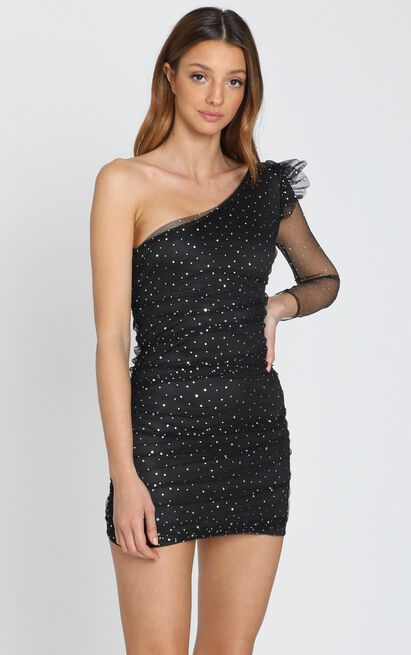 Nothing to Hide Dress in black spot - 8 (S), Black, hi-res image number null