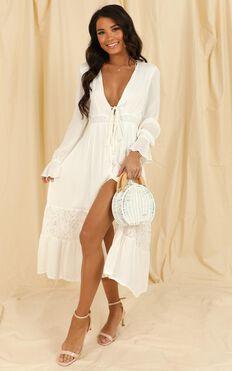 Smooth Sailer Dress In White