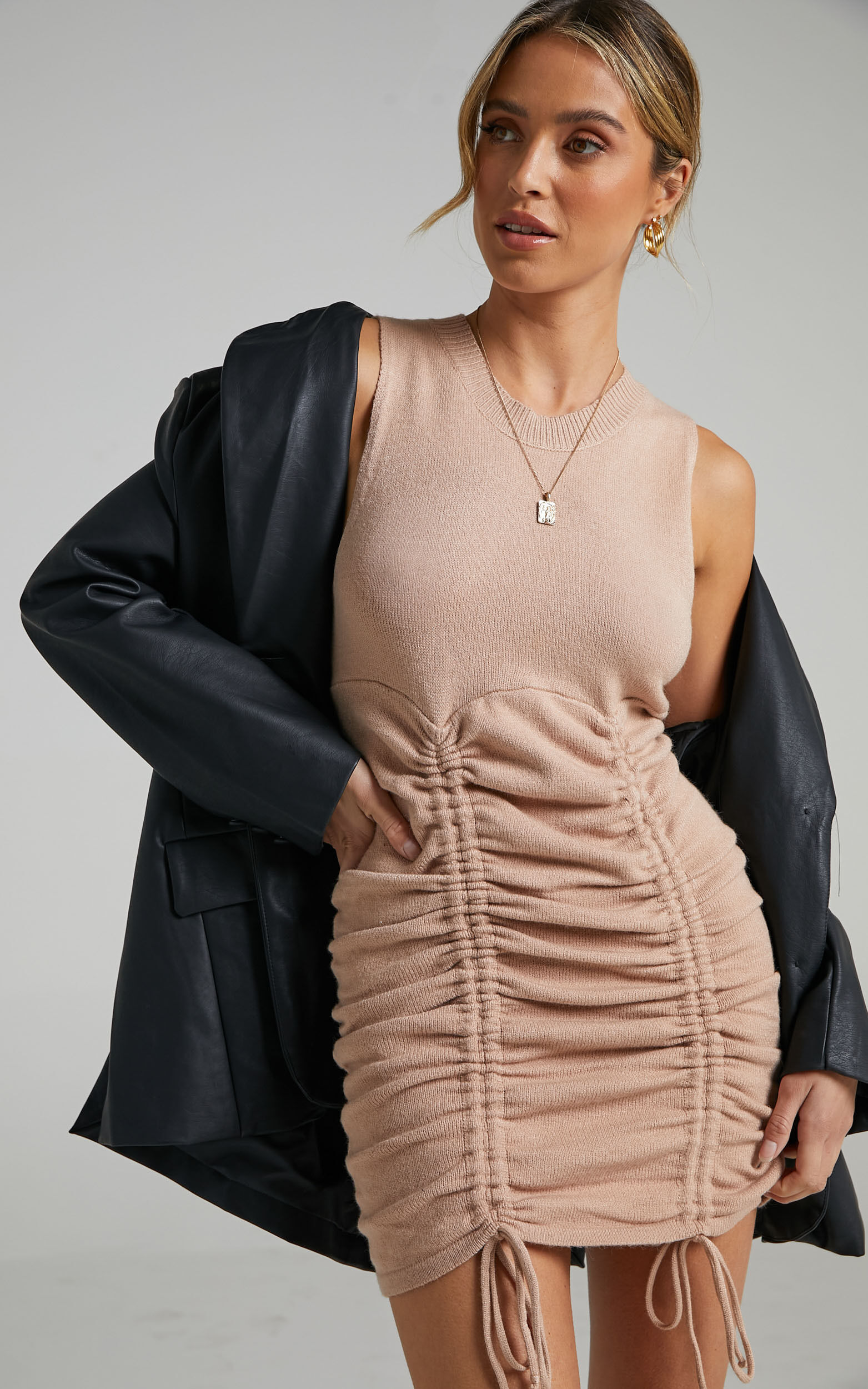 Jody Dress in Tan - 12 (L), Tan, super-hi-res image number null