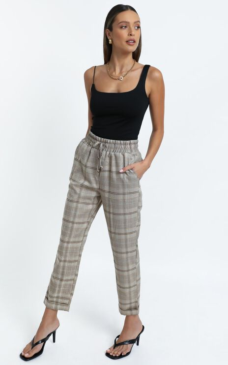Emil Pants in Beige Check