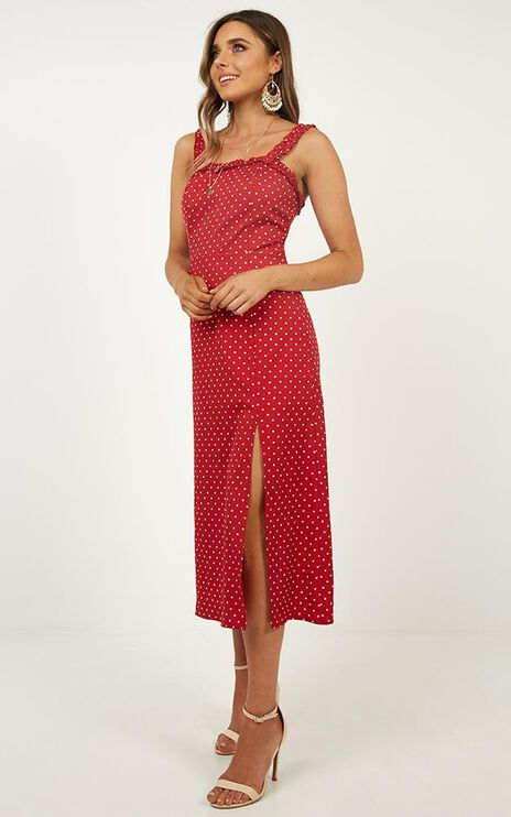 Travel Far Dress In Red Spot