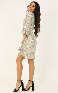 In Your Wildest Dreams Dress In Snake Print