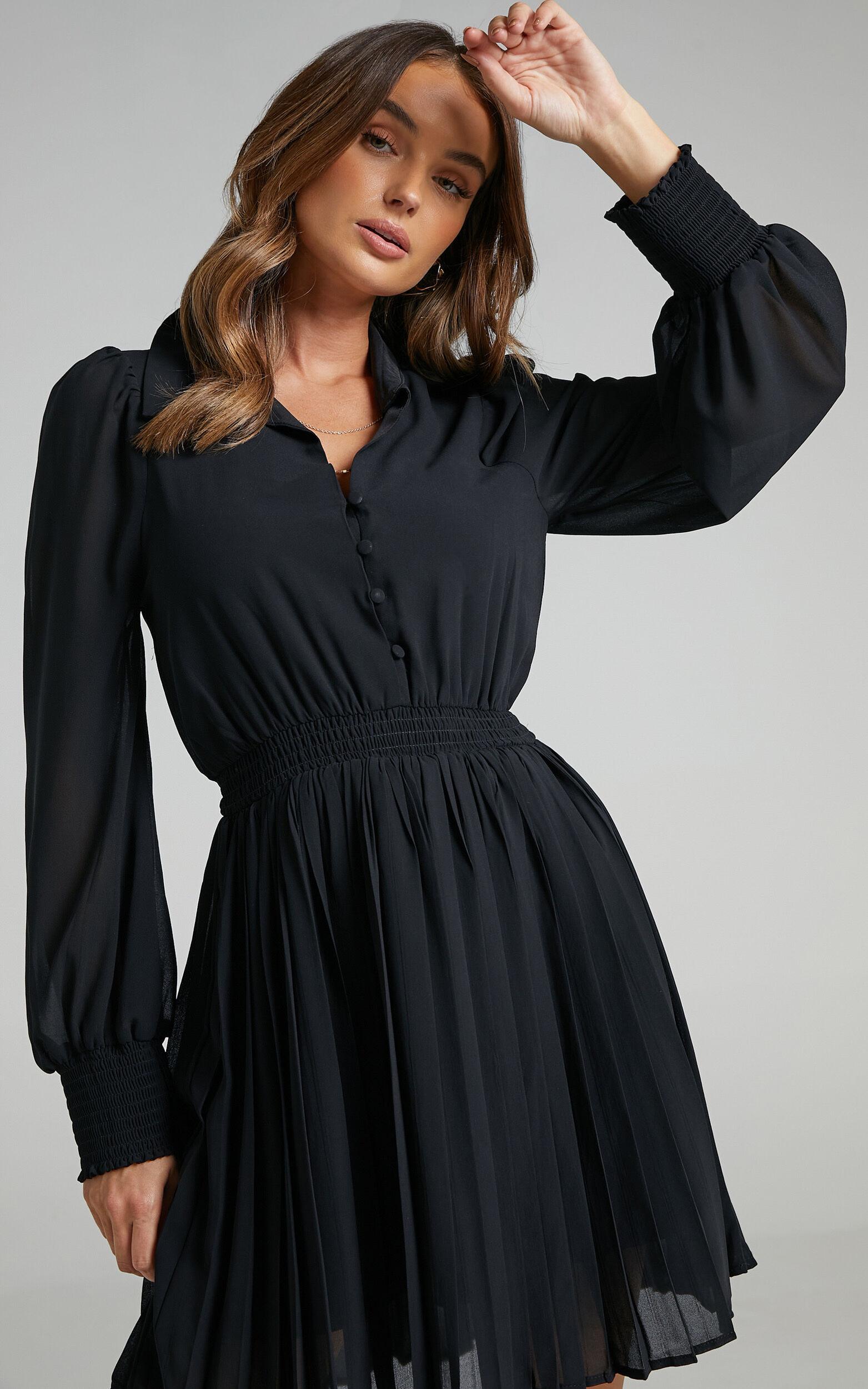 Carmi Dress in Black - 06, BLK1, super-hi-res image number null