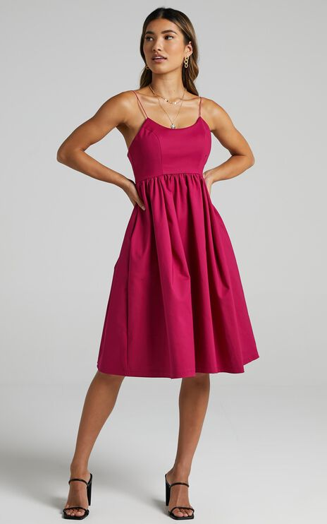 Wild Nights Dress in Magenta