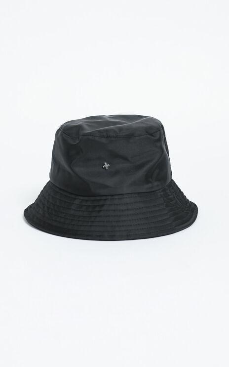Peta and Jain - Bae Bucket Hat in Black Nylon