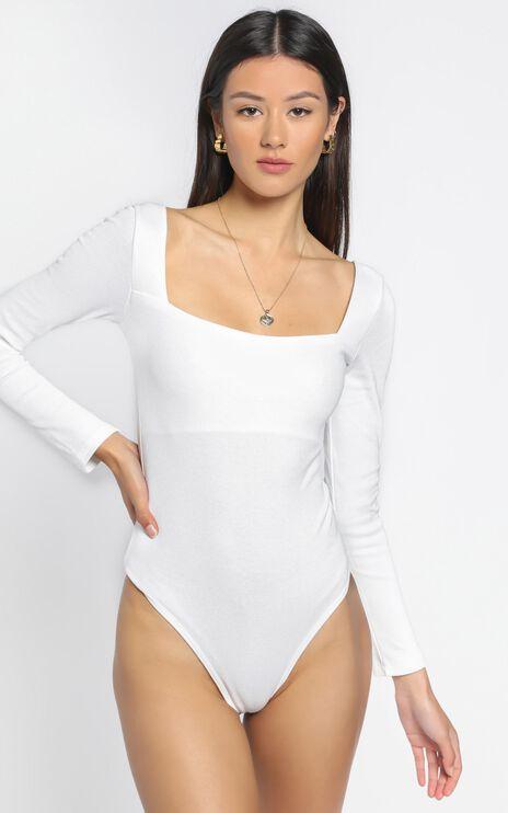 Right Kind Of Love Bodysuit In White