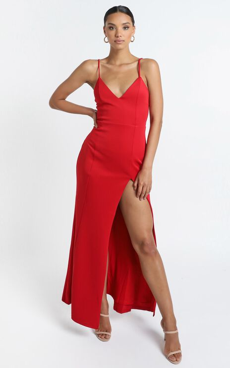 Dare To Dream Maxi Dress In Red