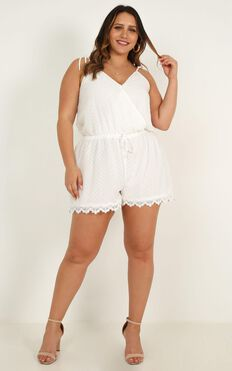Tropo Dream Playsuit In White