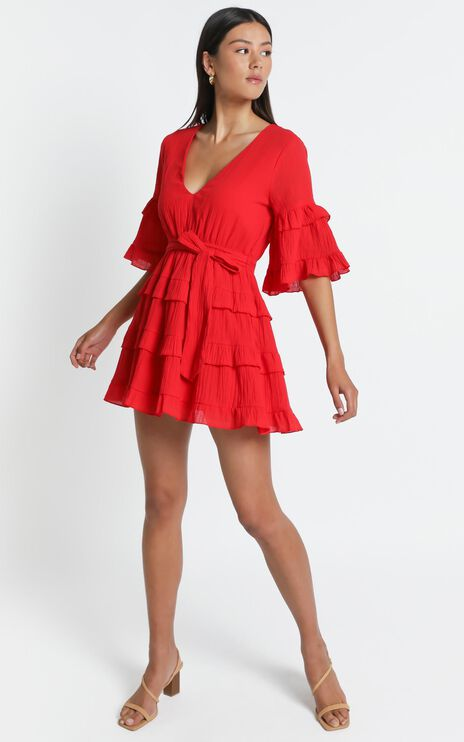 Meet Me In The Sun Dress in Red