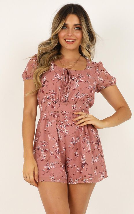 Biggest Fears Playsuit in Rose Floral