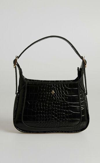 Peta and Jain - Gaga Bag in Black Croc
