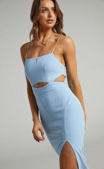 Harper Cut Out Underbust Dress in Light Blue