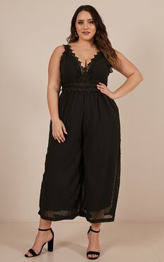 We Could Be Friends Jumpsuit In Black