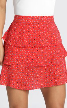 New Shores Skirt In Red