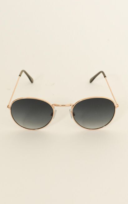 Mink Pink - Heritage Sunglasses In Gold Cool And Smoke Grad, , hi-res image number null