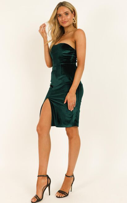 Angelic Love Dress in teal velvet - 20 (XXXXL), Green, hi-res image number null