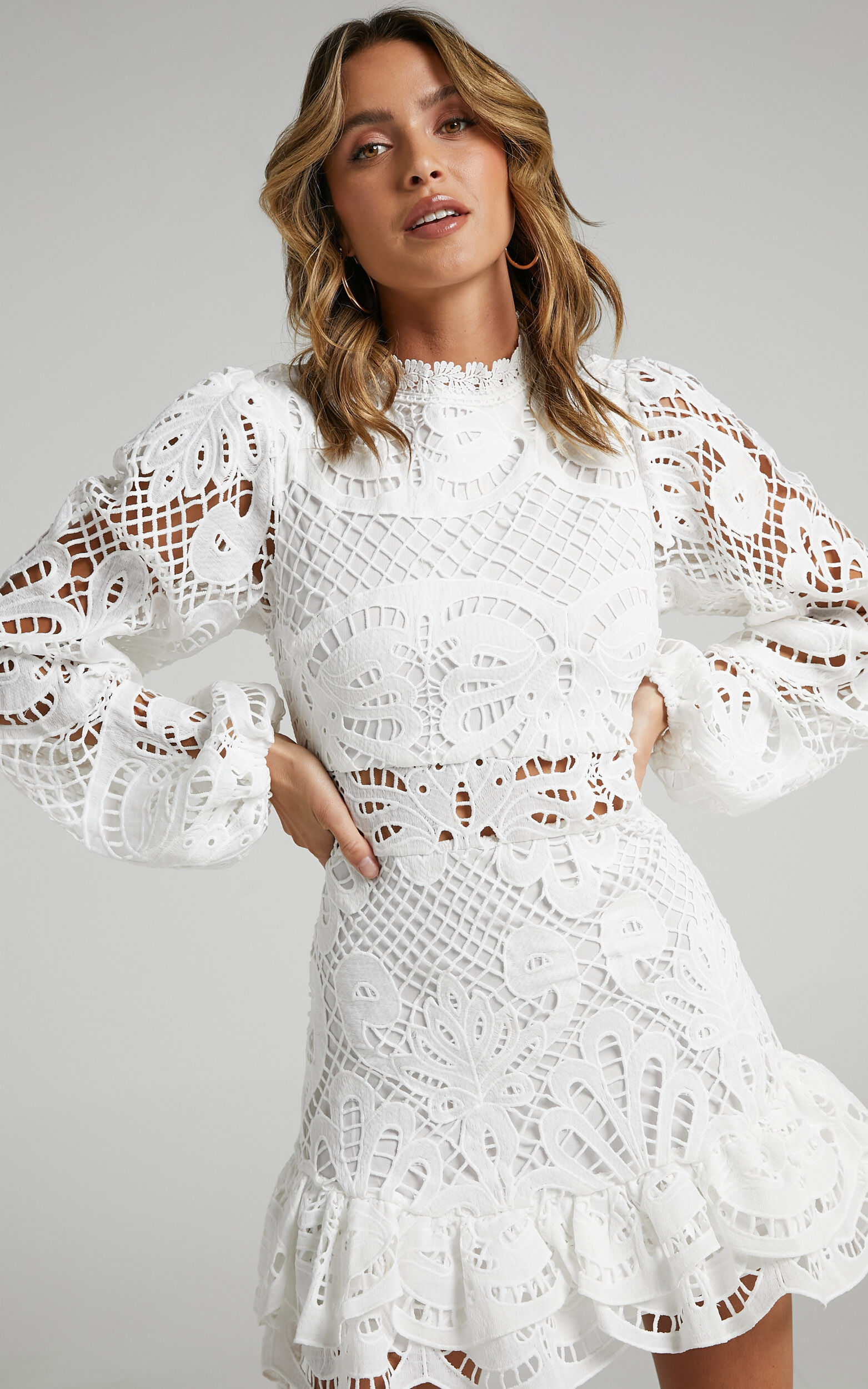 Kiss Me Now Dress in White Lace - 06, WHT3, super-hi-res image number null