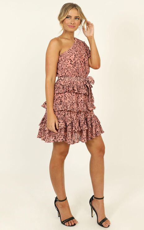 Alisha Dress in Pink Print