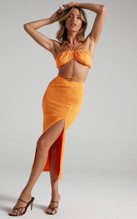 Chloey Two Piece Set in Orange