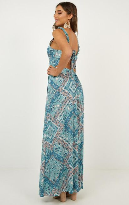 I Want All Dress in blue print - 12 (L), Blue, hi-res image number null