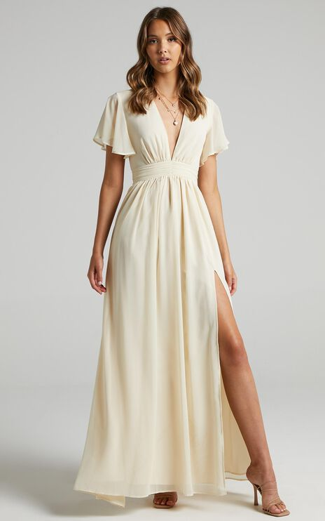 December Dress in Cream