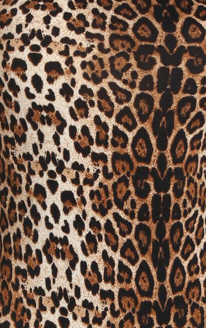 Shes Wild High Neck Bodysuit in leopard print - 12 (L), Brown, hi-res image number null