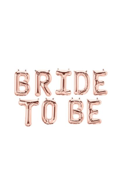 Bride To Be Foil Balloons In Rose Gold, , hi-res image number null