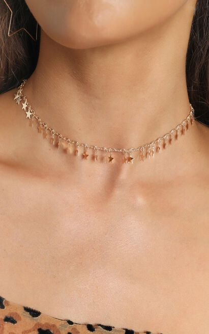 Tess Star Chocker In Gold, , hi-res image number null