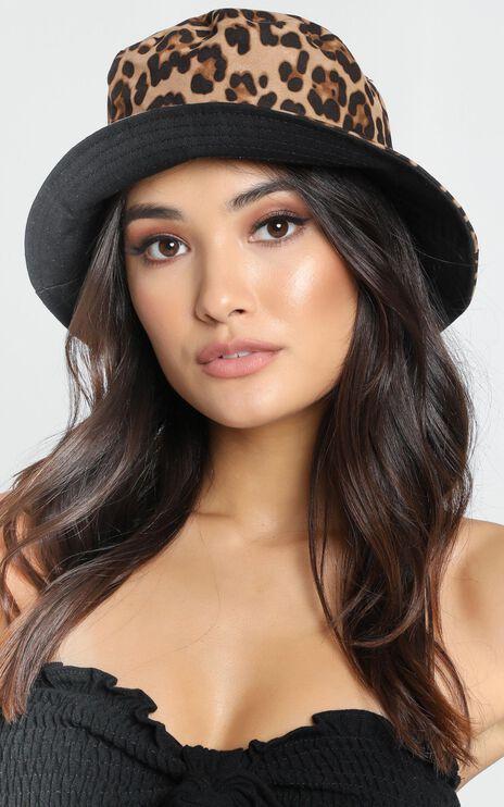 Fierce Obsession Bucket Hat in Leopard Print