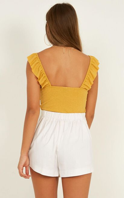 At Your Best top in mustard - 12 (L), Mustard, hi-res image number null