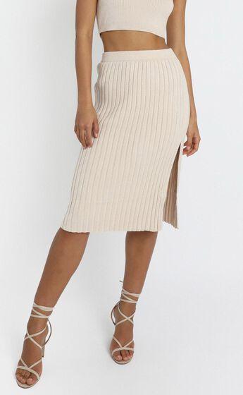 Yana Knit Skirt in Beige
