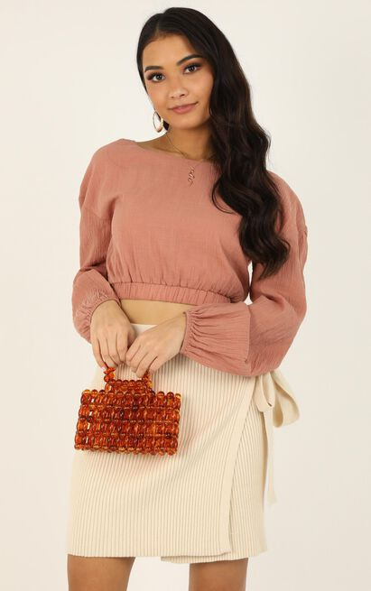 Figured It Out Beaded Bag In Tort, , hi-res image number null