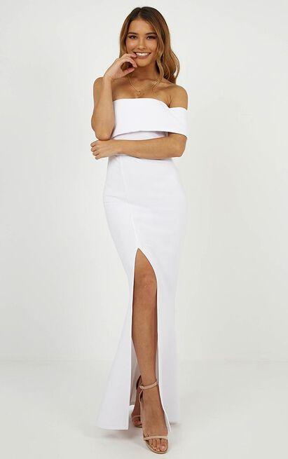 Glamour Girl Maxi Dress in white - 4 (XXS), White, hi-res image number null