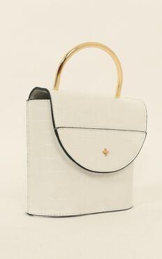 Peta And Jain - CeeCee Bag In  White Croc