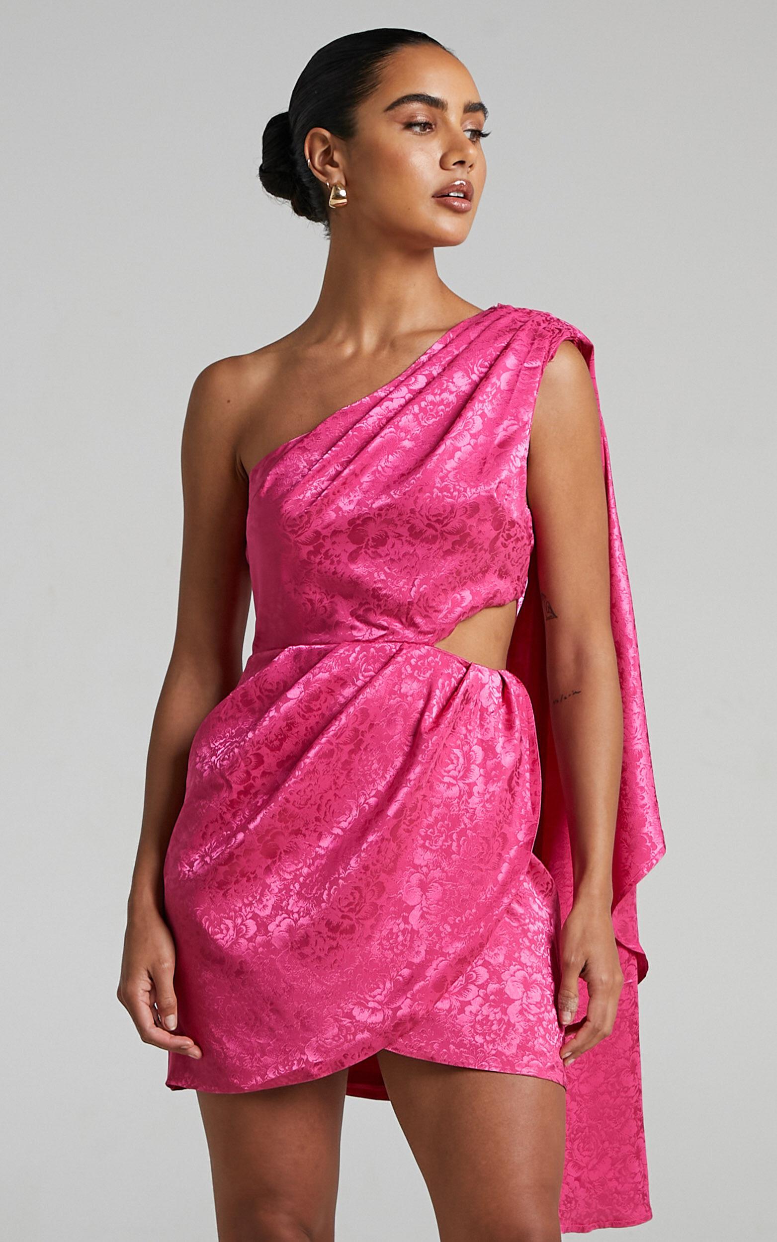 RUNAWAY THE LABEL - SERITA DRESS in Fuchsia - L, PNK2, super-hi-res image number null