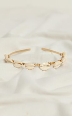 Think Of Me Headband In Natural Shell