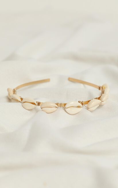 Think Of Me Headband In Natural Shell, , hi-res image number null