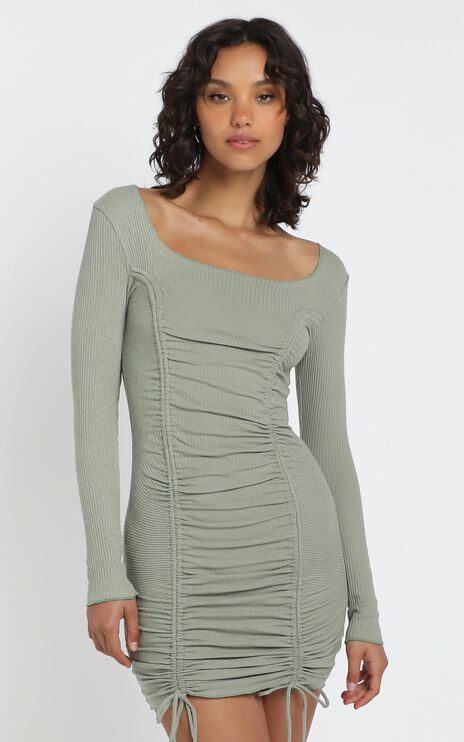 Nina Dress in Khaki