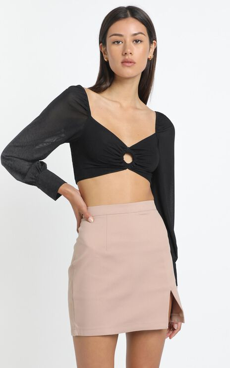 Marion Top in Black