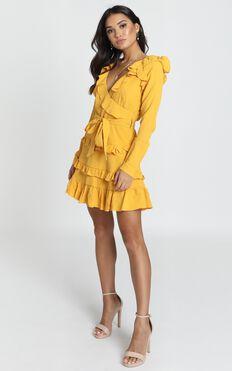Aria Dress In Mustard