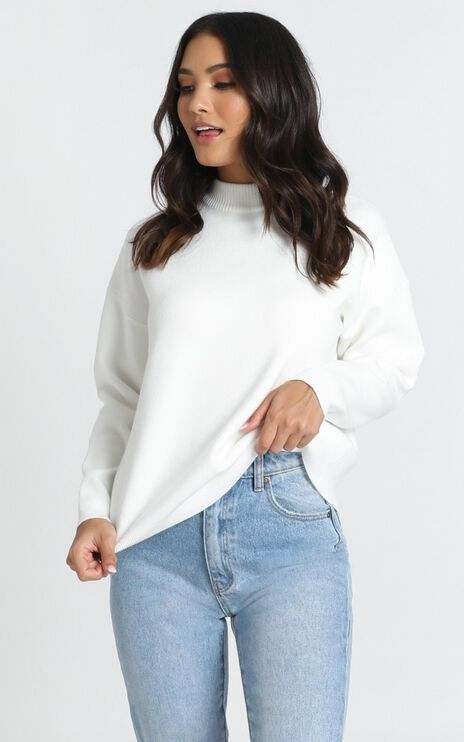 Midnight Glow Knit Jumper In White