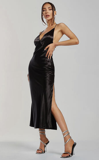Runaway The Label - Safia Slip Dress in Black