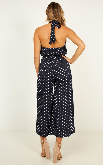 Street Wise jumpsuit in navy spot - 14 (XL), Navy, hi-res image number null